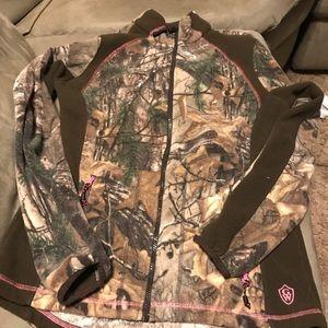 Adult meduim fleece camo jacket
